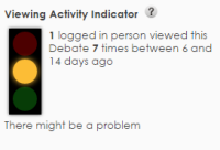 Viewing Activity Indicator